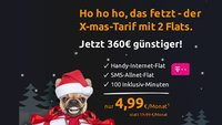 Internet-, SMS-Flat & 100 Freiminuten im T-Mobile-Netz: Nur 4,99 Euro im Monat