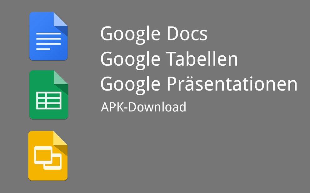 Google Docs, Tabellen & Präsentationen: Updates mit neuen