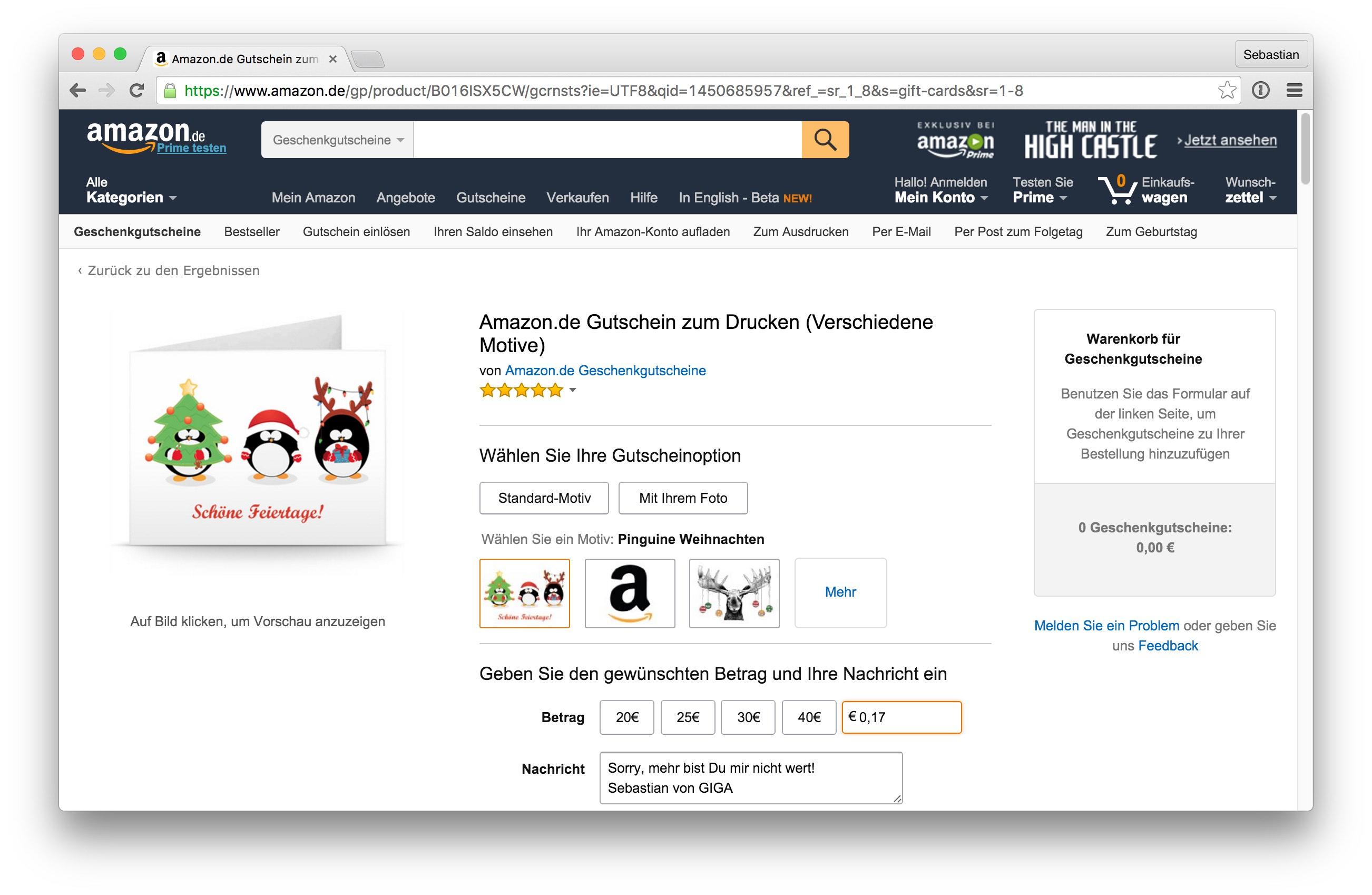 Amazon Gutschein ausdrucken: So funktioniert das Last-Minute-Geschenk