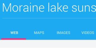 So schön wäre die Google-Suche im Material Design