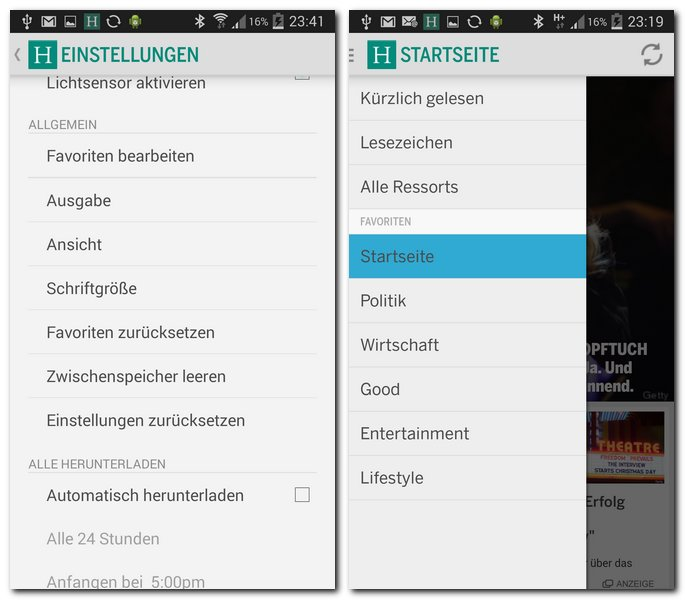 huffington-post-app-einstellungen