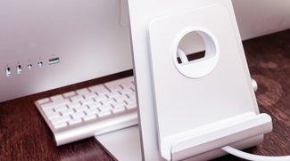Just Mobile AluRack: Ablage am iMac für Leichtes und Schweres
