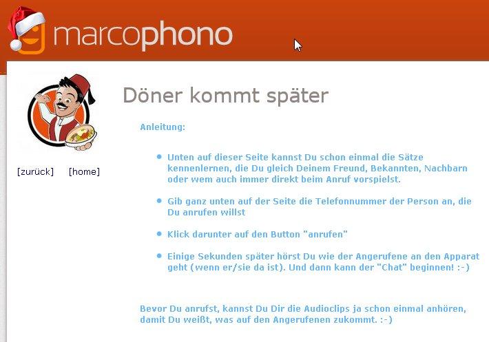 Einen Anruf von marcophono zurückverfolgen? Vergiss' es!