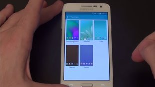 Samsung Galaxy A3: Metall-Smartphone mit TouchWiz-Themes im Hands-On-Video