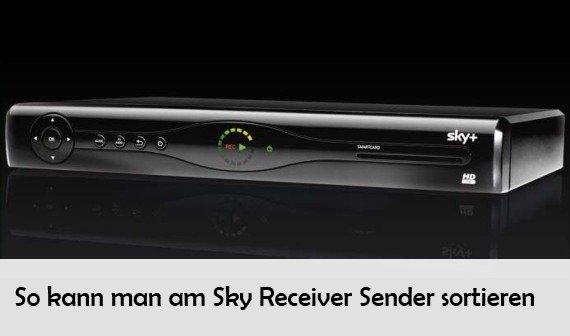 Sky Receiver: Sender und Programme sortieren – Anleitung