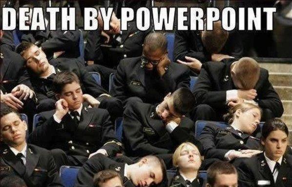 Unbedingt vermeiden sollte man bei seiner PowerPoint Masterfolie, diese ständig wieder zu verwenden