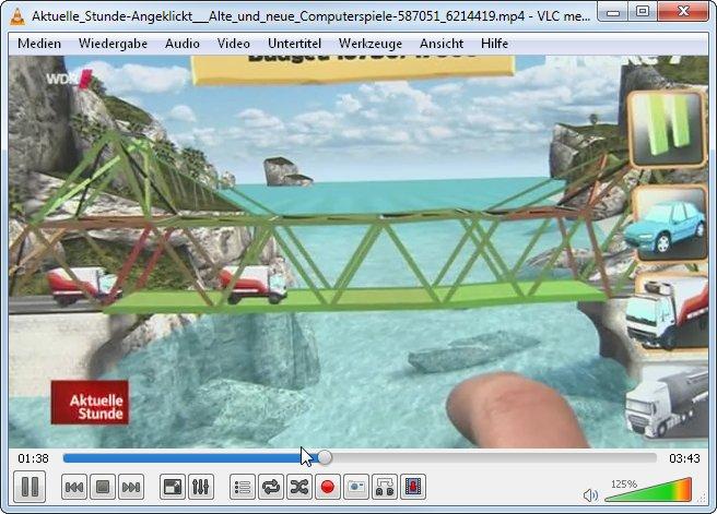 Mit VLC können wir uns die WDR Mediathek-Downloads problemlos ansehen