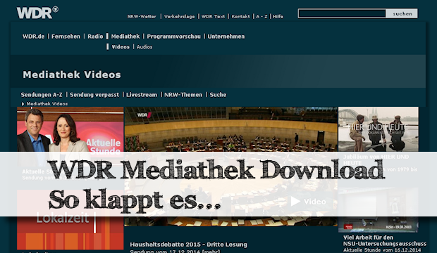 Wdr Mediathek Download