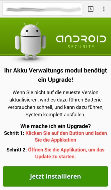 Android Gewinnspiel Fake