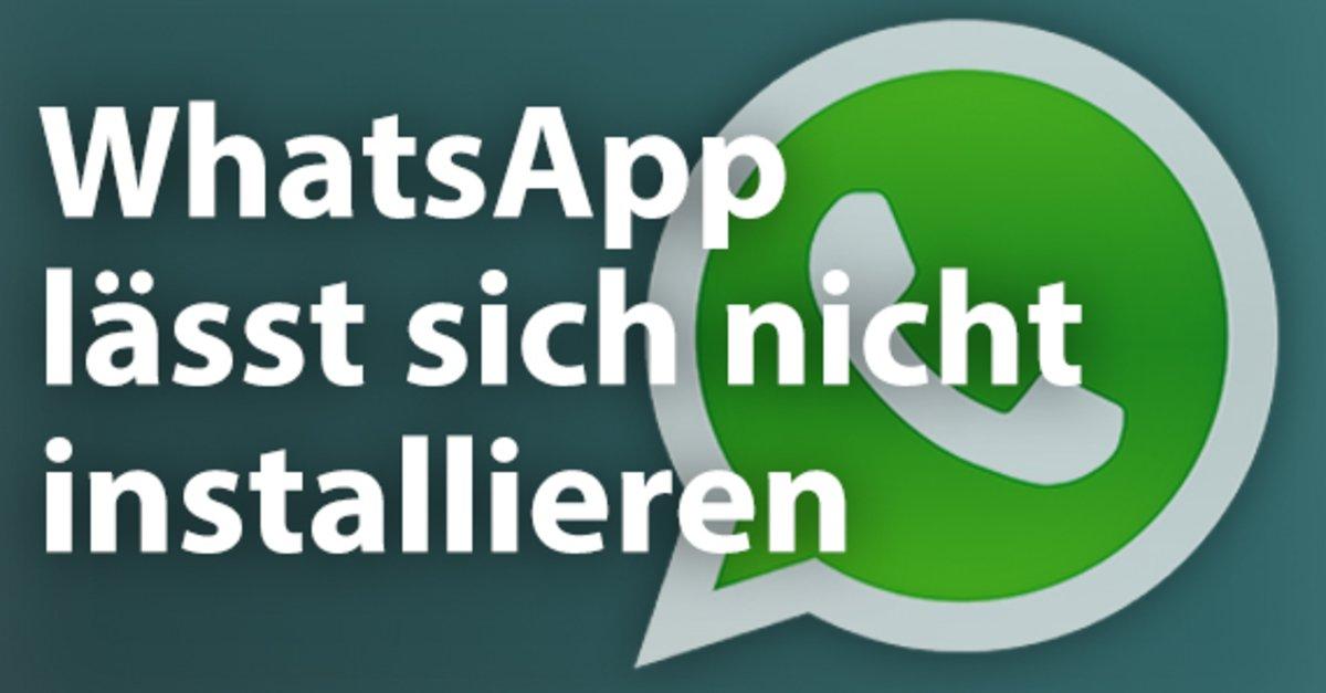 whatsapp herunterladen klappt nicht