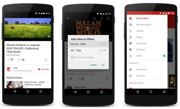 YouTube: App speichert Videos auf Wunsch für Offline-Gebrauch -- aber nicht bei uns