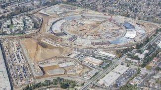 Apple Campus 2: Luftaufnahme zeigt Stand der Bauarbeiten