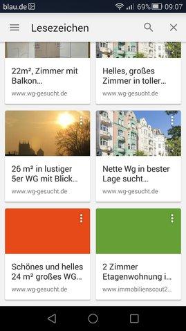 Chrome Lesezeichen Widget