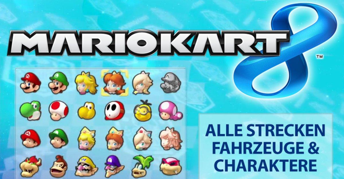 Mario Kart 8 Alle Fahrzeug Teile Und Goldene Fahrzeug Teile Giga