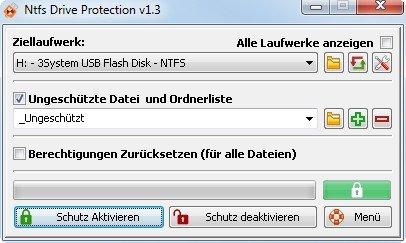 NTFS Drive Protection kann einen USB-Stick wirklich sicher machen