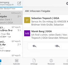 Outlook: Screenshots der App (Bildergalerie)