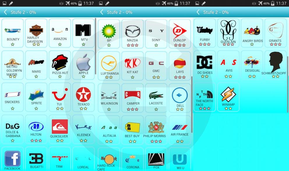 Picture Quiz Logos L 246 Sungen Level 2 Giga