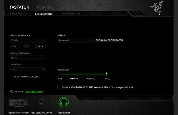 Razer BlackWidow Chroma-Tastatur: Effekte einrichten (Tutorial)