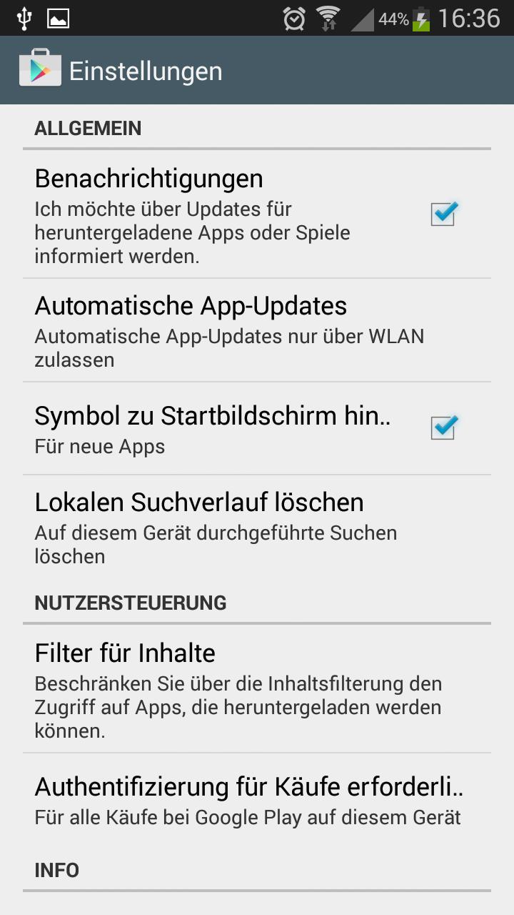Store konto löschen play bestellverlauf Google Play