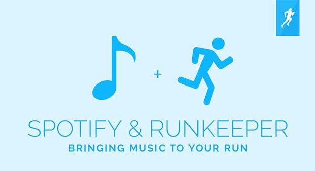 Musikalische Lauffreude: RunKeeper jetzt mit Spotify-Integration