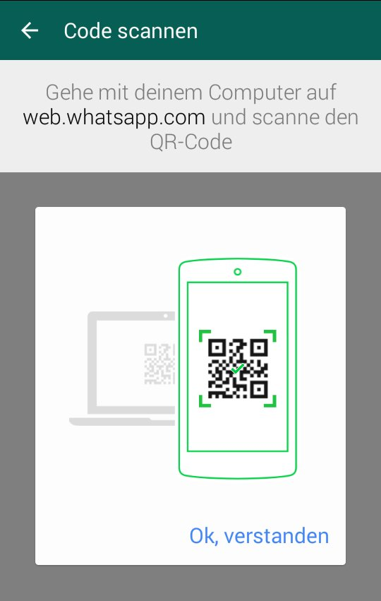 WhatsApp Laptop QR-Code scannen
