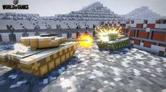 World of Tanks: 8-bit-Modus in einer Winterlandschaft