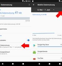 Unendlich Datenvolumen Android