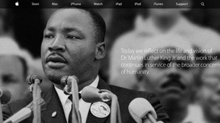Apple gedenkt Martin Luther King Jr.