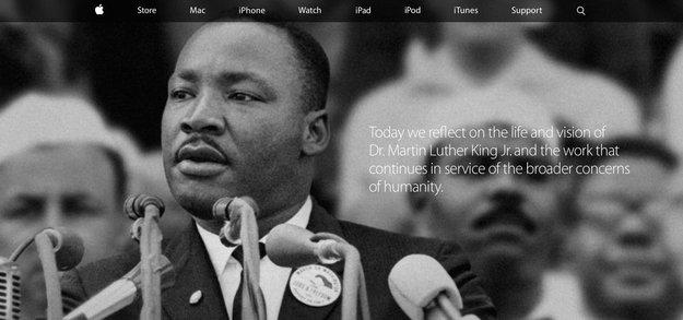 Apple gedenkt Martin Luther King Jr.