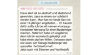"""""""Axon-Badreiniger""""-Spruch bei WhatsApp, Facebook, im Forum und Co.: Was ist das?"""