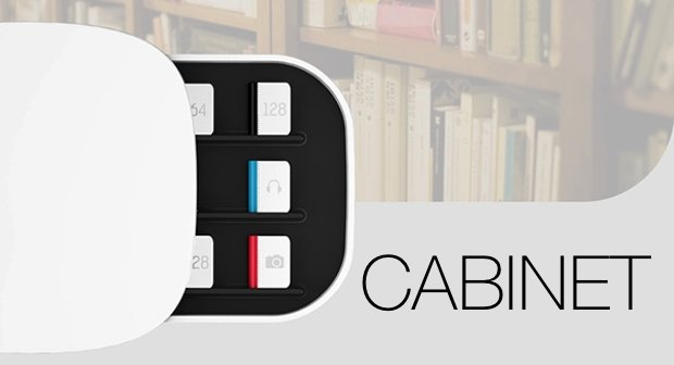 """Cabinet: Das """"Speicher-Regal"""" für den Mac (Konzept)"""