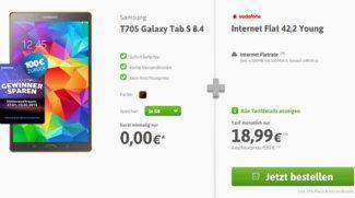 6 GB Internet-Flatrate (225 Mbit/s) für 18,99 € mit Galaxy Tab S 8.4 für 0 € und 100 € Cashback