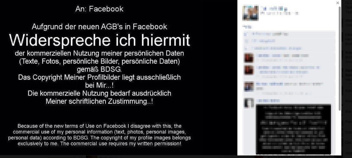 Facebook Agb Widersprechen