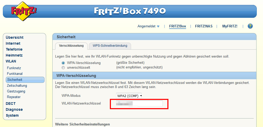Fritz Box Standard Passwort