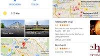 Google Maps: Version 4.2 der iOS-App bringt Wetterbericht und Restaurant-Filter