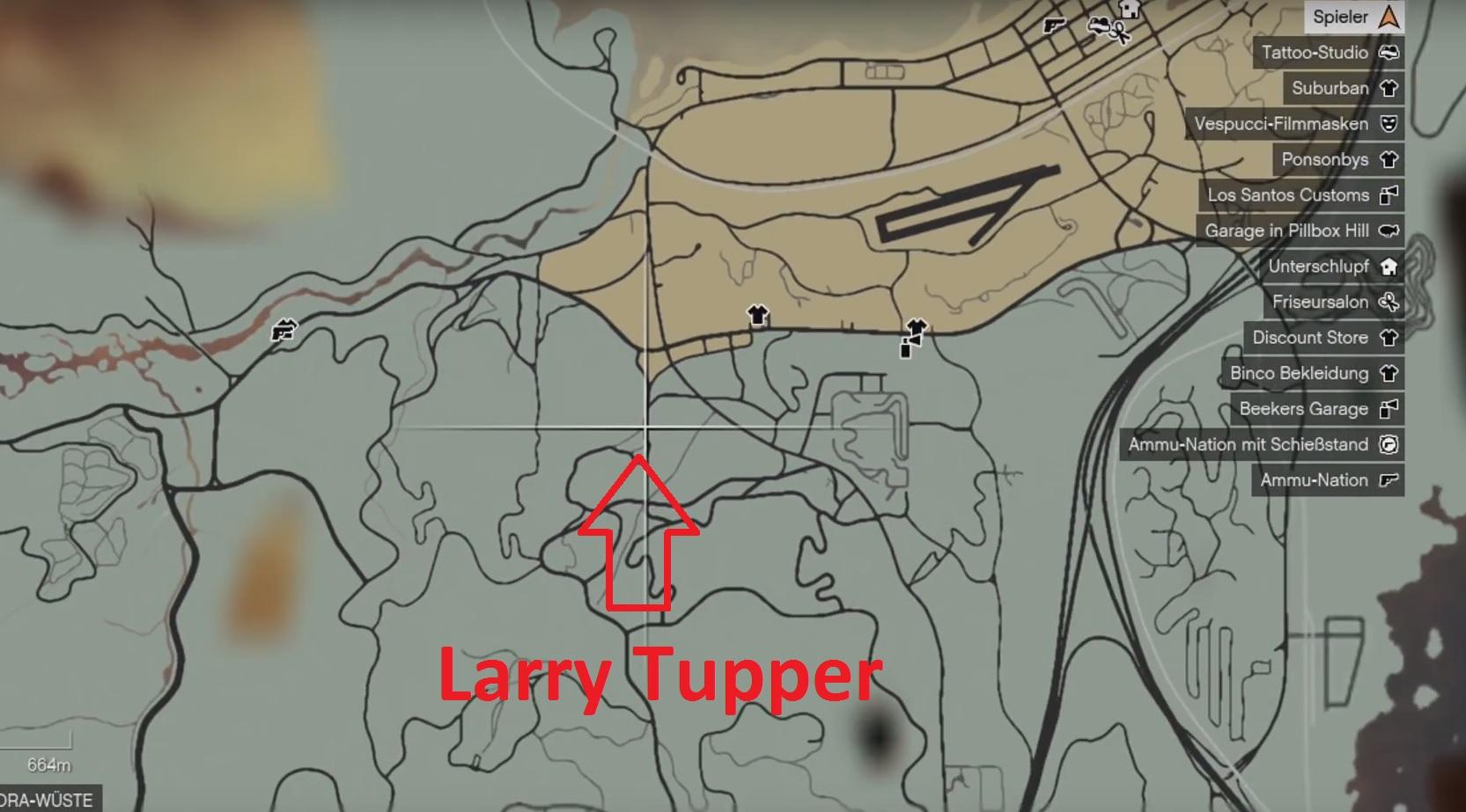 GTA 5: Larry Tupper – Standort (Kopfgeld-Mission) – GIGA