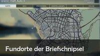GTA 5 Briefschnipsel: Karte mit allen 50 Fundorten