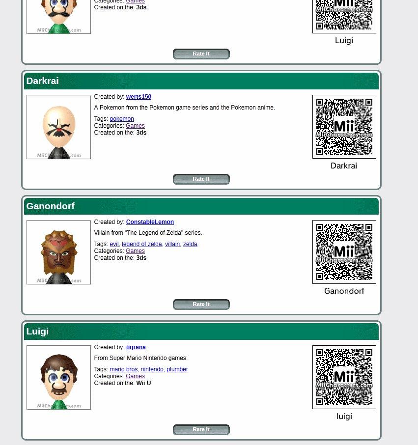 Mii: QR Codes für Pokémon, Mario, Anime und Co  für Wii U