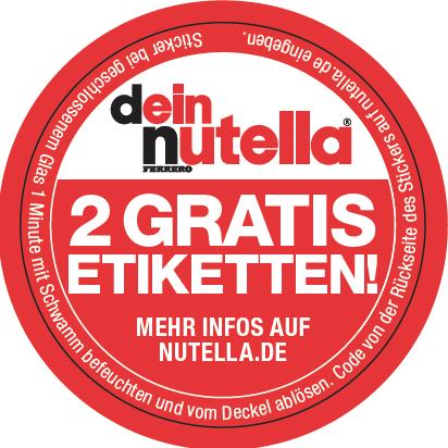 Nutella Etiketten Selbst Erstellen Und Ausdrucken So