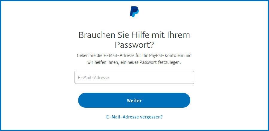 Sicherheitsfragen Paypal Vergessen