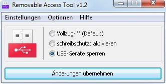 Ratool sperrt USB-Geräte aus und kann auch andere Laufwerke sperren