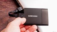 Samsung Portable SSD T1 im Test: Externe Mini-SSD schlägt Konkurrenz