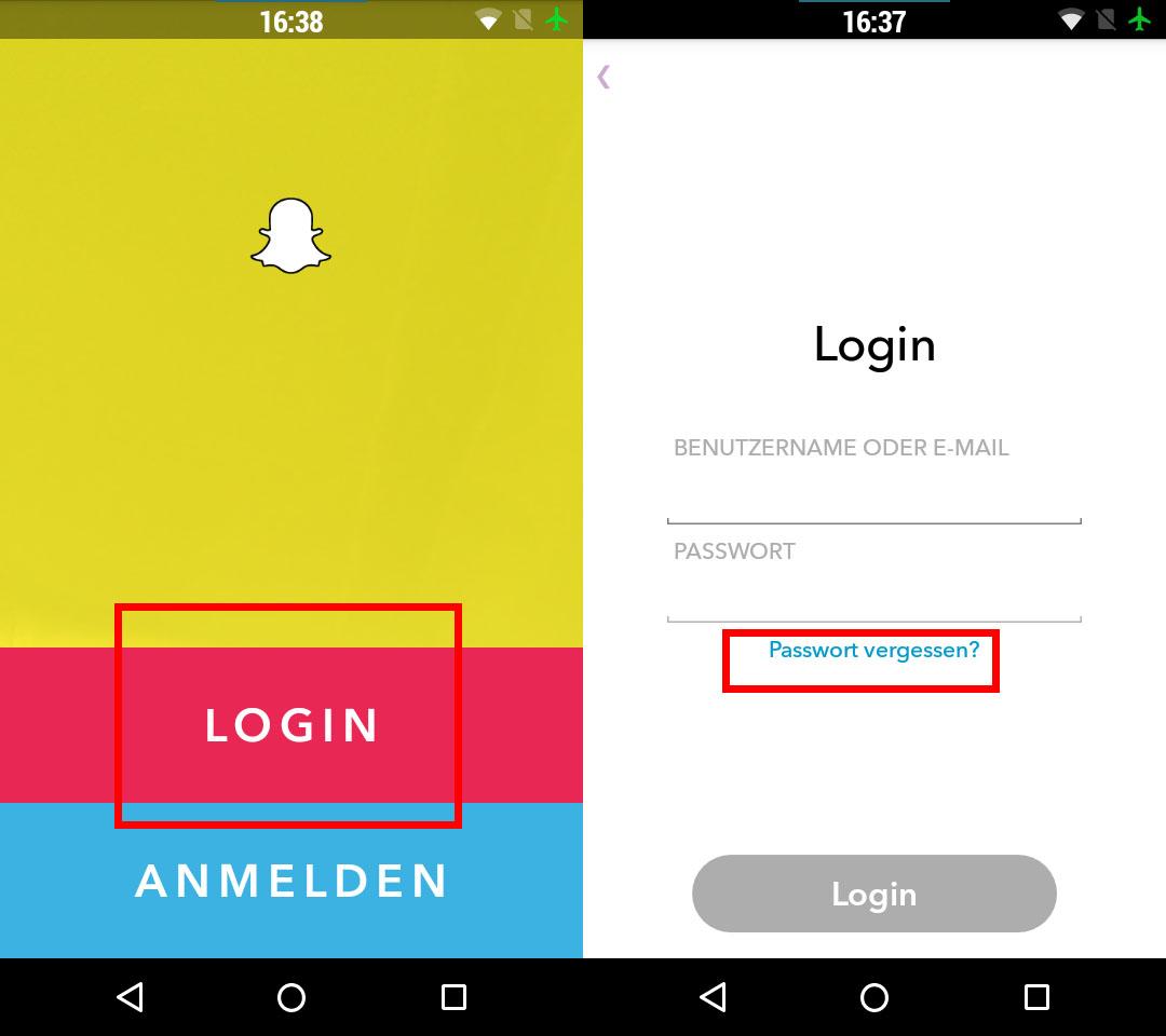 Snapchat: Passwort vergessen - was tun?