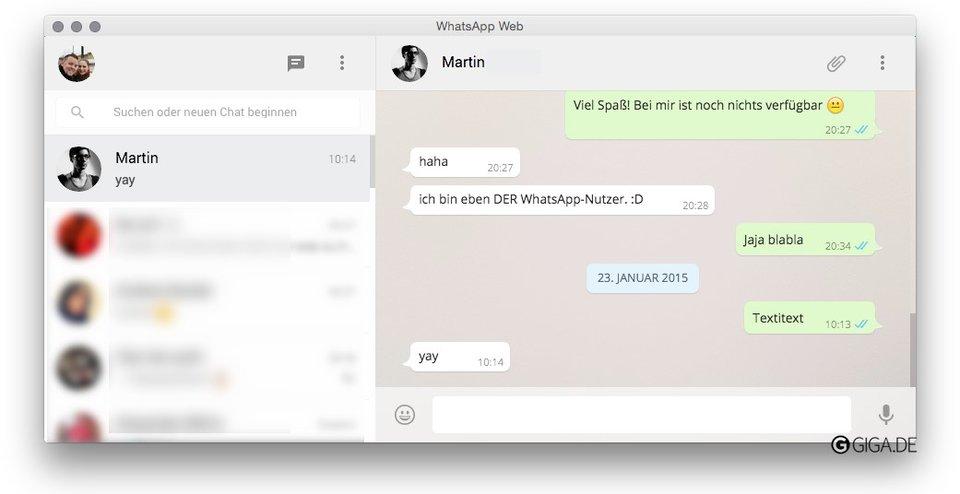 WhatsApp auf dem Mac im eigenen Fenster dank Chrome Wrapper.