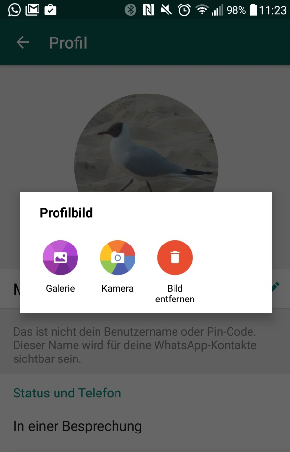 Whatsapp Profilbild Und Status ändern Giga