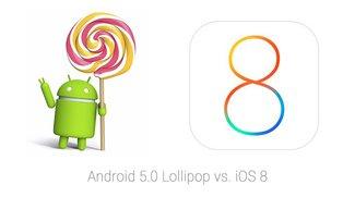 Android 5.0 Lollipop: Weniger Abstürze als iOS 8