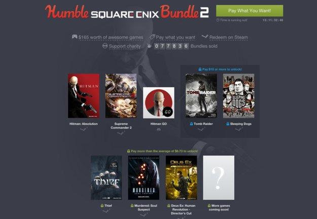 Humble Square Enix Bundle 2: Tomb Raider, Hitman & weitere Titel im Angebot *Update*