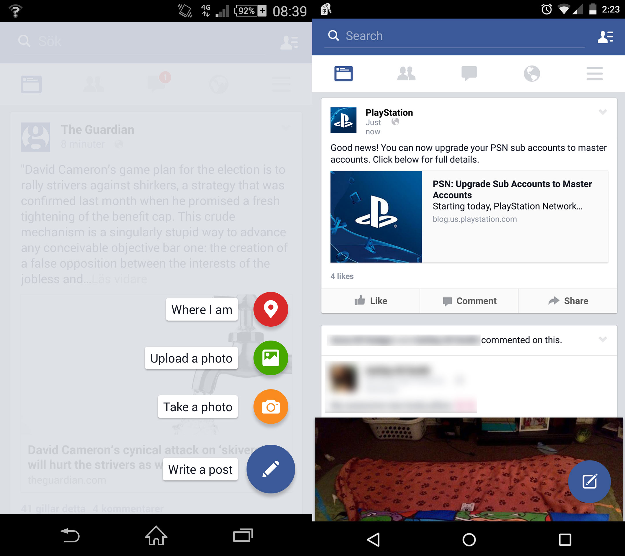 Facebook App Chatleiste Weg