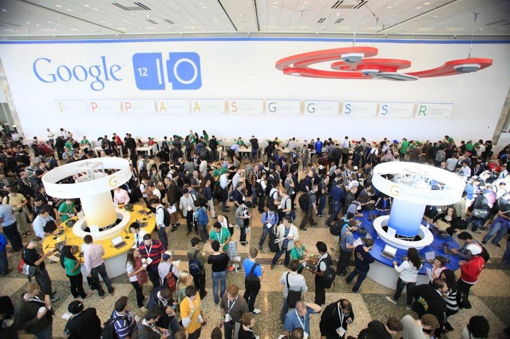 Schon 2012 war die Google I/O gut besucht (Quelle: Google)