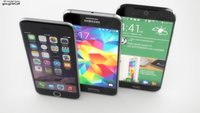 Samsung Galaxy S6 vs. HTC One (M9) vs. iPhone 6: Render-Konzepte im Bildvergleich